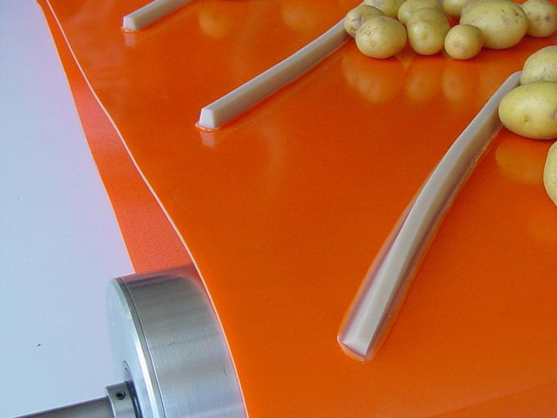Corte transversal perfil trapezoidal PVC
