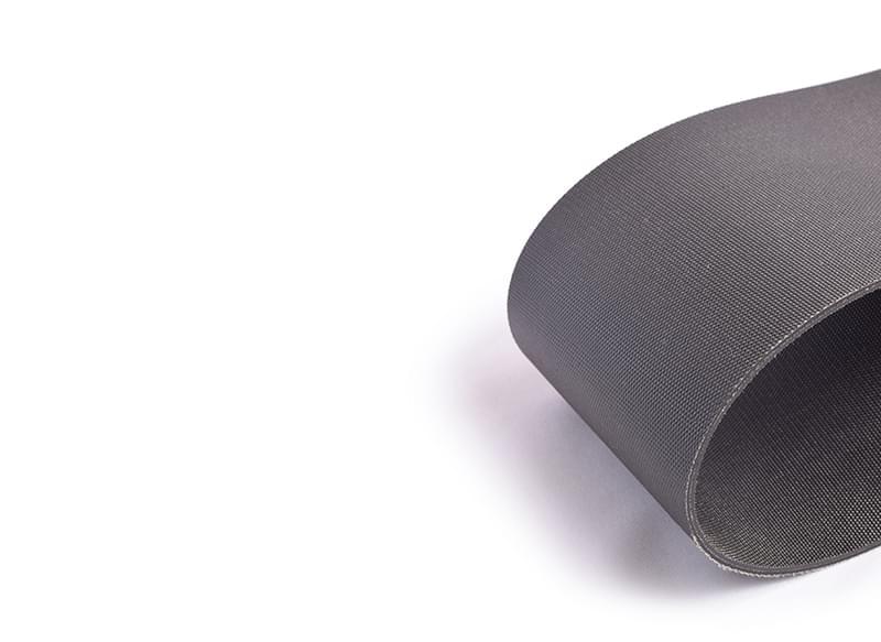 correia duas lonas com impregnação (rasqueado) em PVC preto