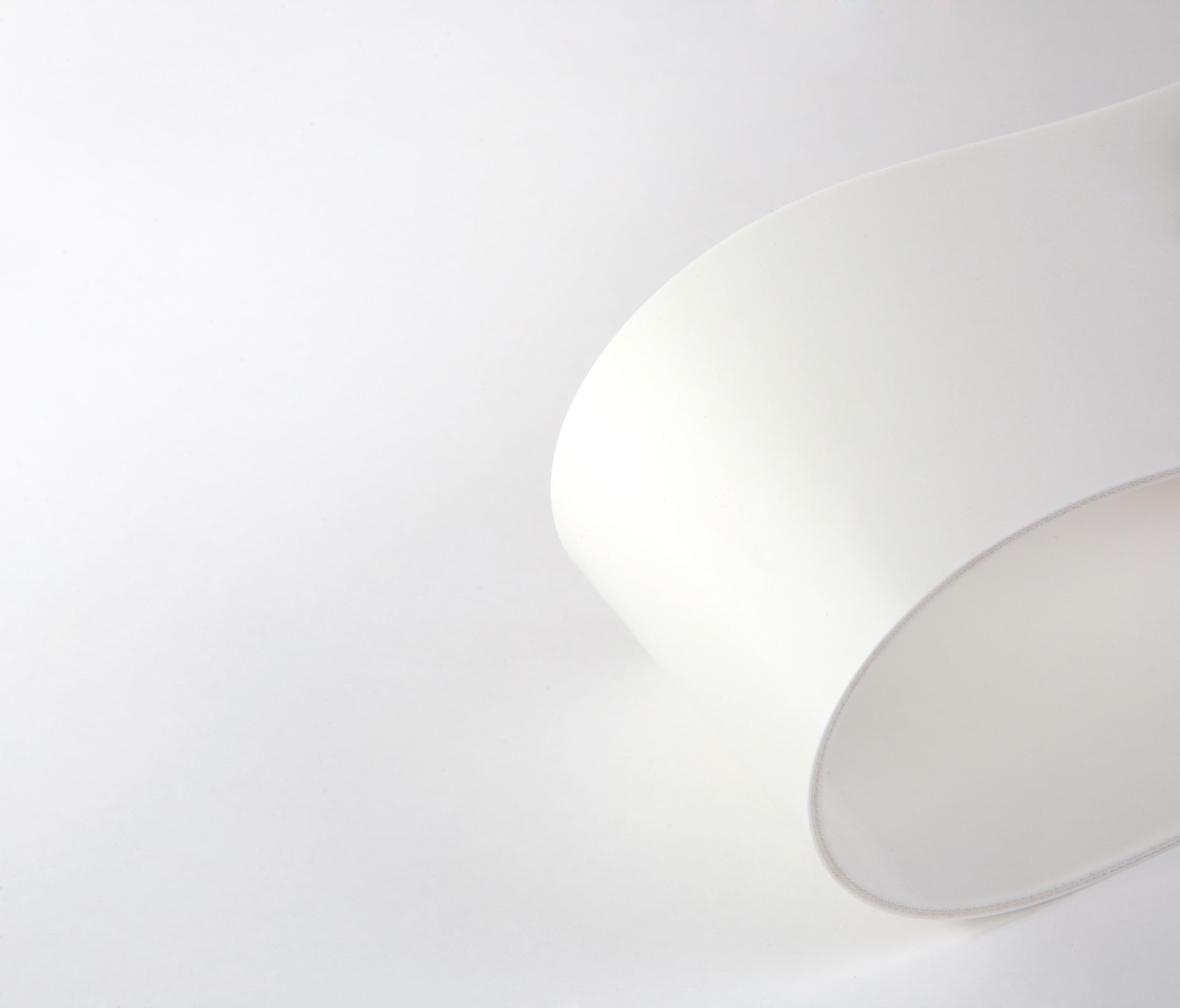correia sanitária de duas lonas em PVC branco com cobertura dupla face
