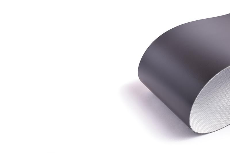 correia de duas lonas em PVC preto resistente a óleos