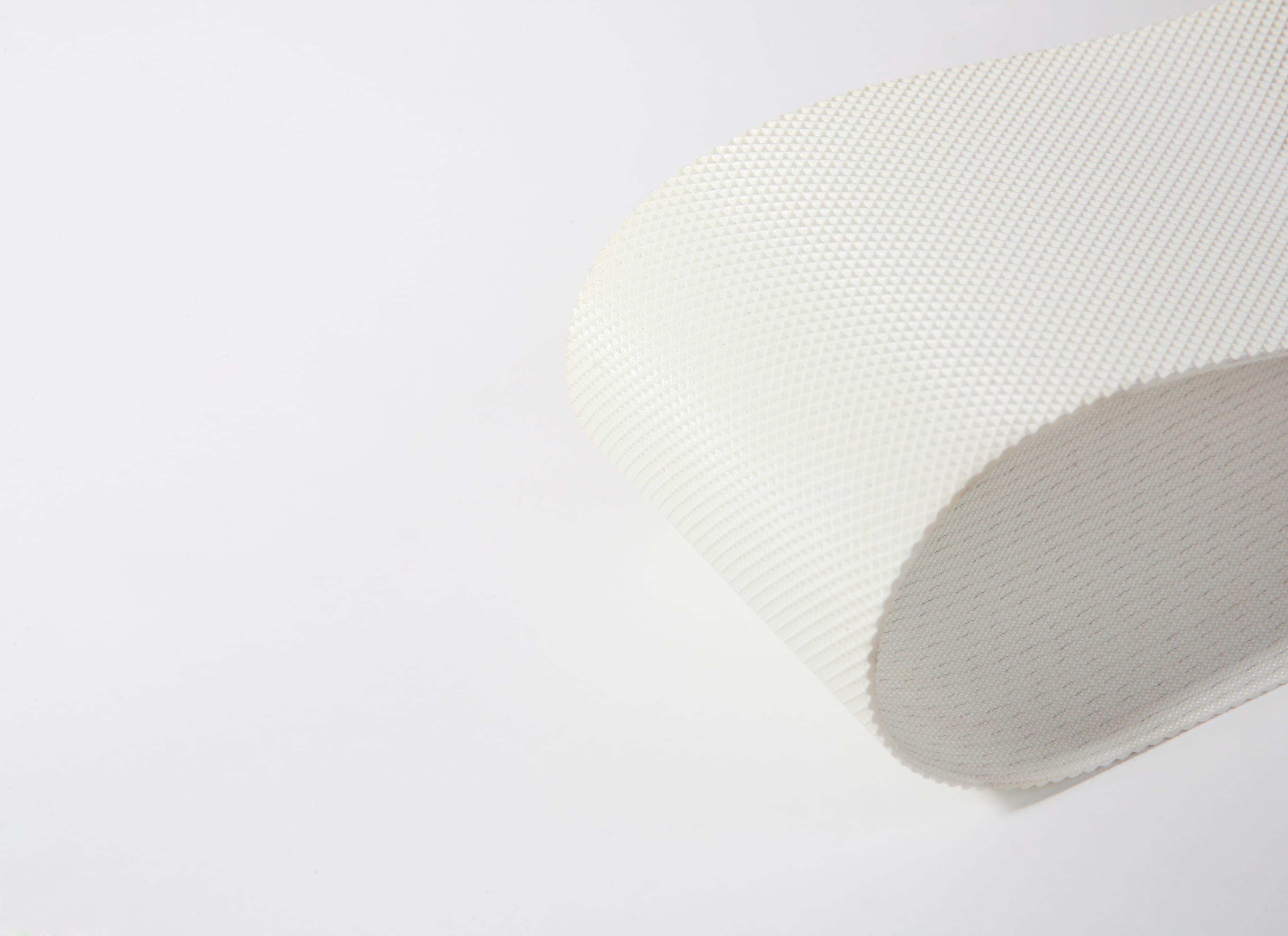 correia Poliuretano (PU) (poliuretano) branco perfil pirâmide negativa