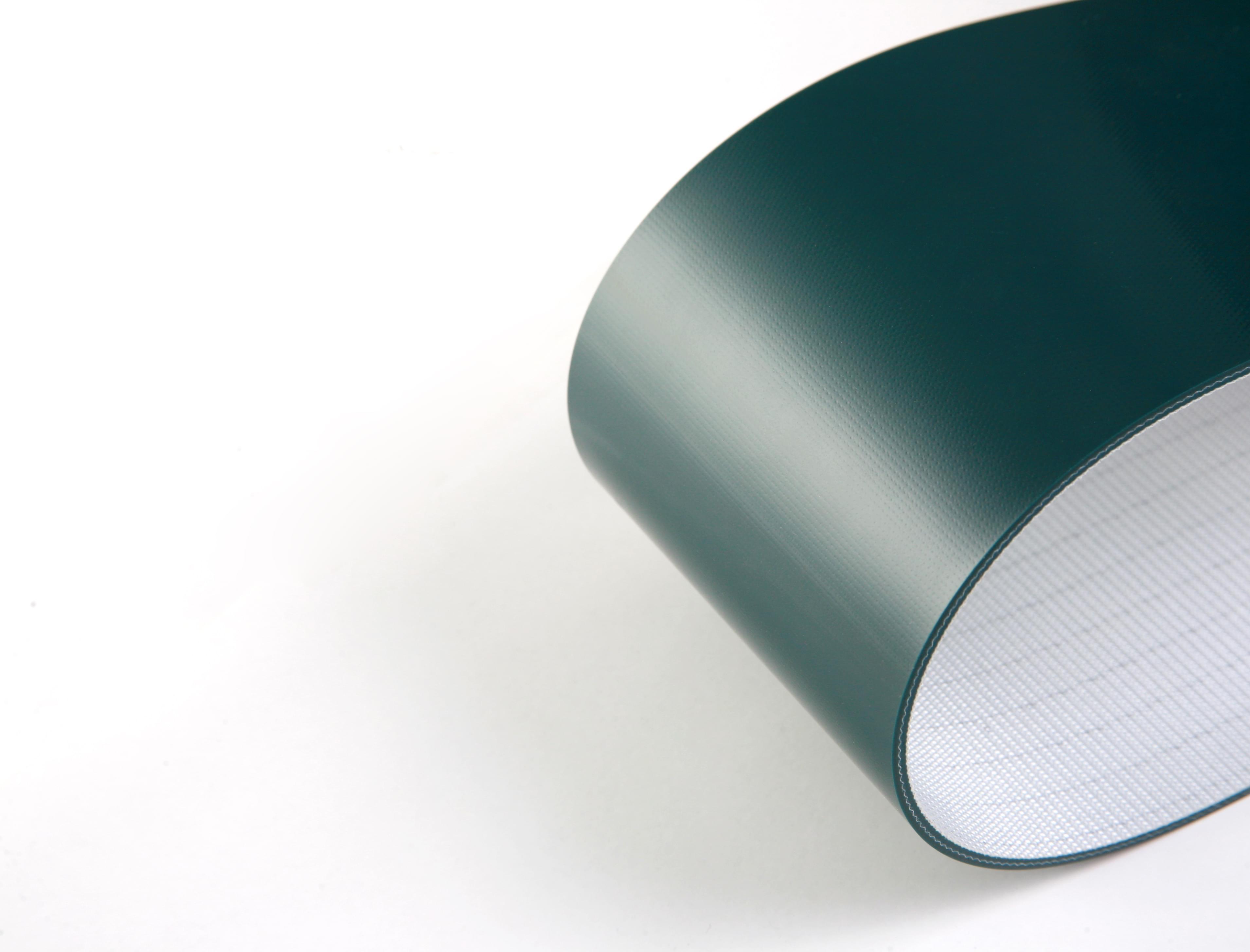 correia de duas lonas em PVC verde com 3mm