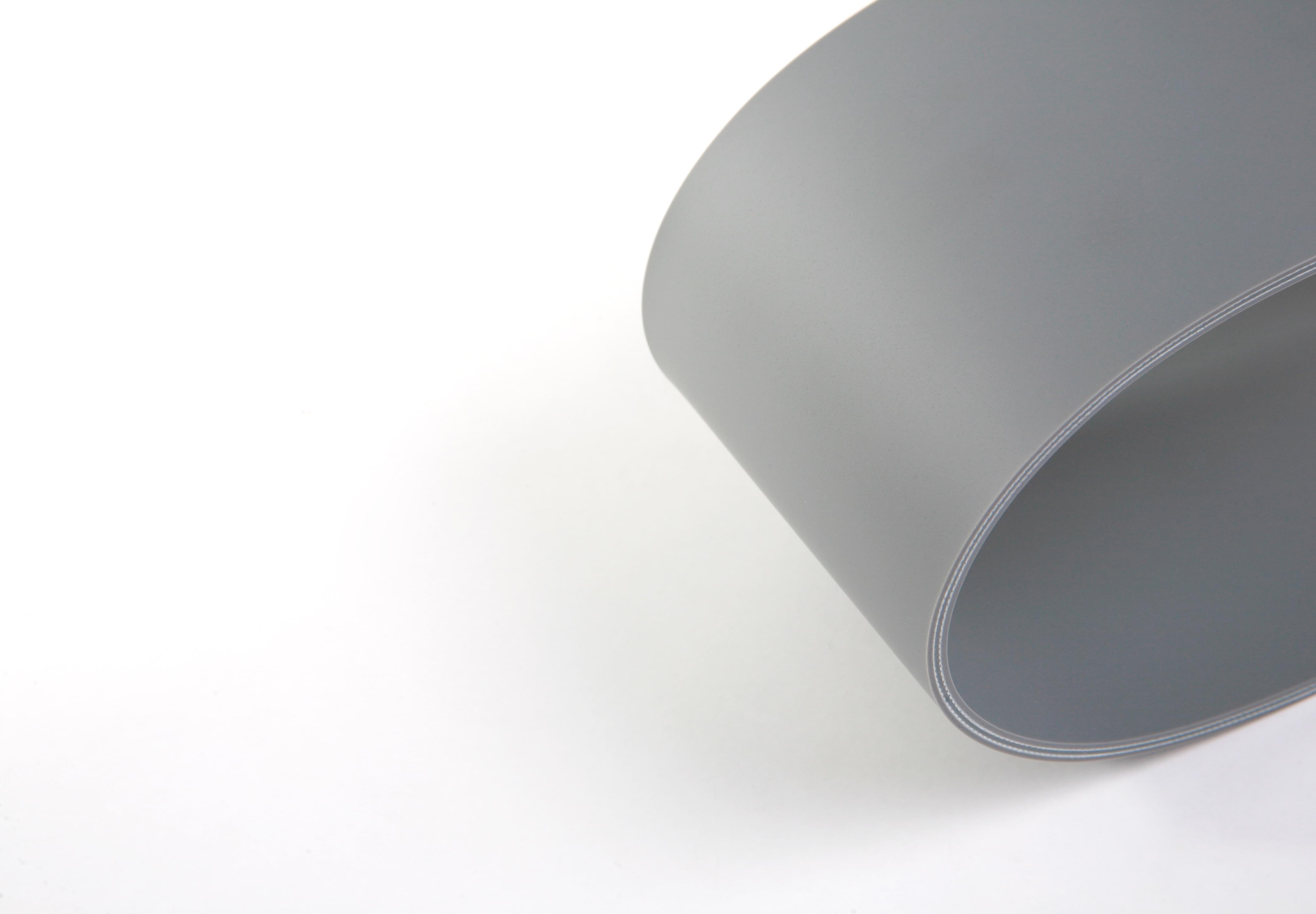 correia de duas lonas em PVC cinza cobertura dupla face com 4mm