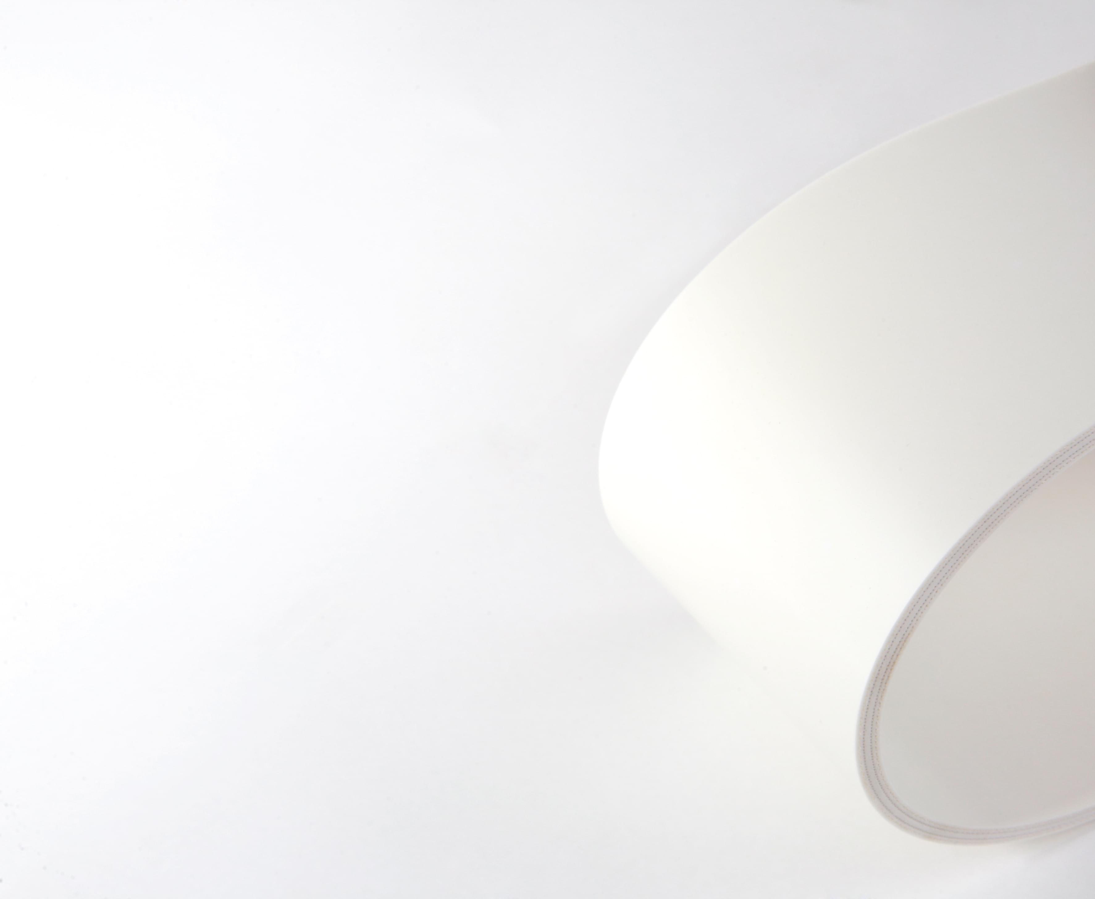 correia sanitária de três lonas em PVC branco com cobertura dupla face