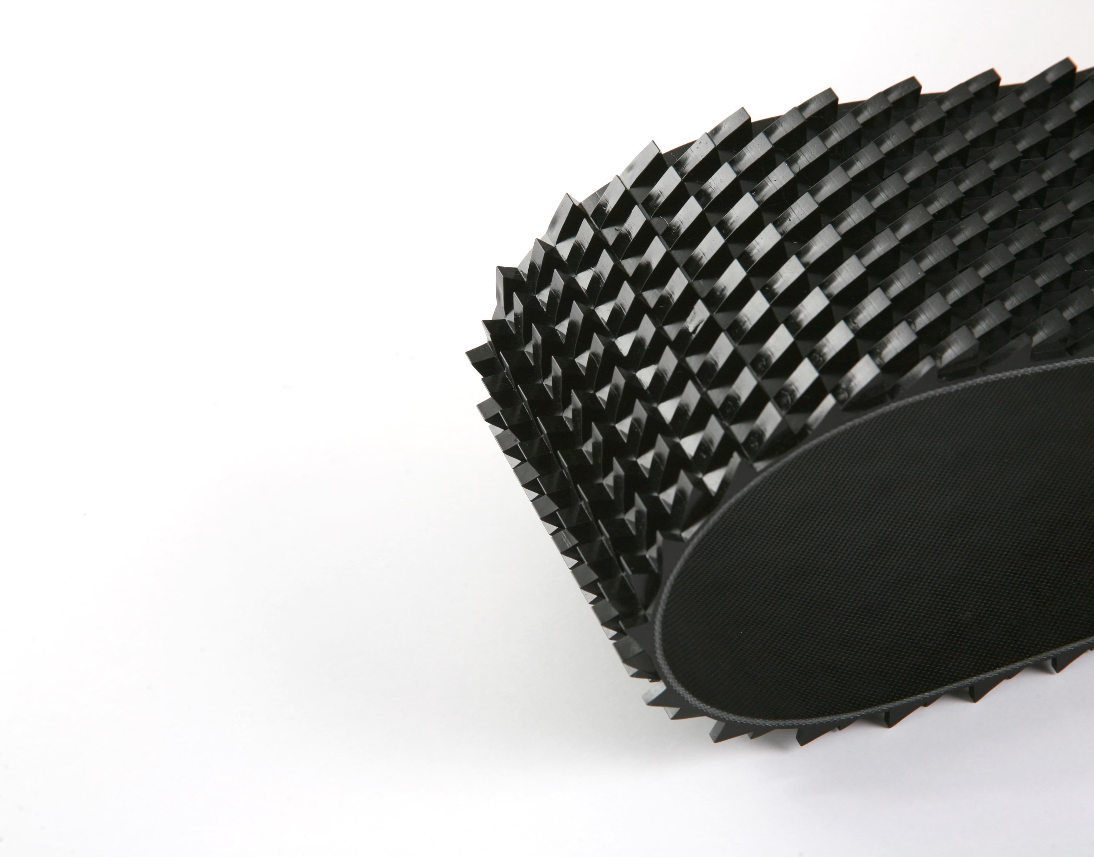 correia dentada PVC preto duas lonas