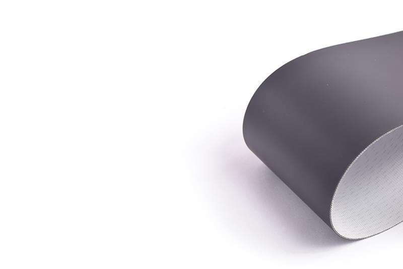 correia Poliuretano (PU) (poliuretano) preto duas lonas superfície fosca para enxugadeiras de couro