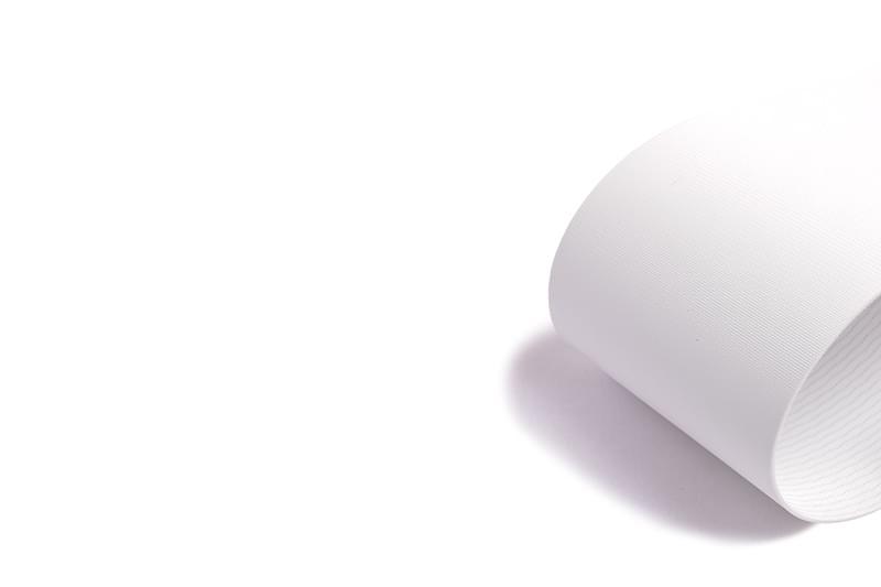 correia Poliuretano (PU) (poliuretano) branco duas lonas sem cobertura com impregnação de Poliuretano (PU)