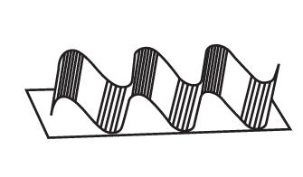 borda sanfonada desenho técnico